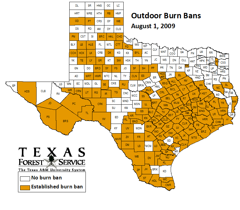 County-wide burn bans through August 1