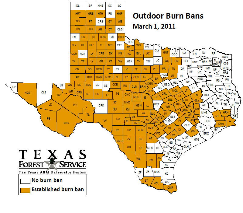 County-wide burn bans through March 1