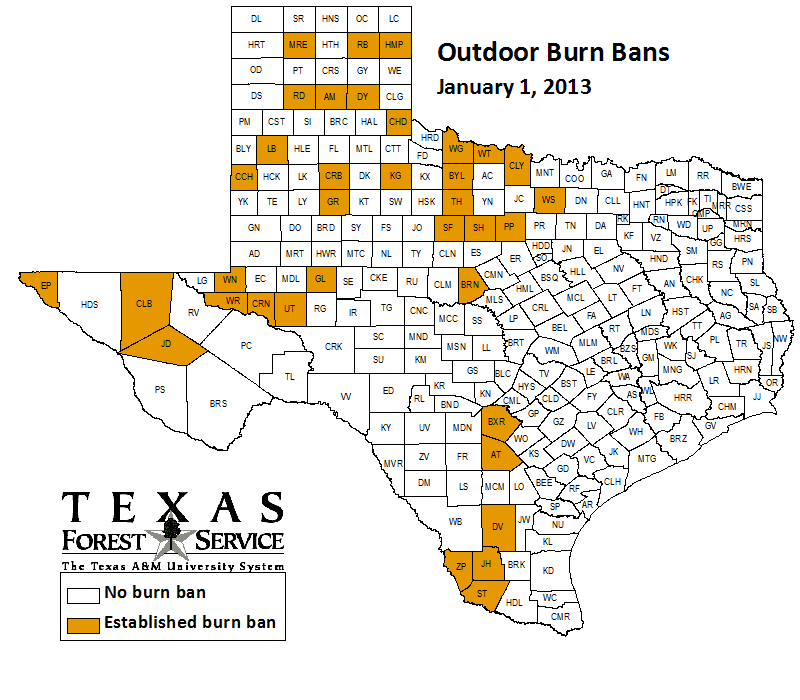 County-wide burn bans through January 1