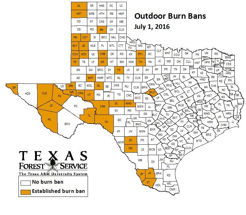 County-wide burn bans through July 1