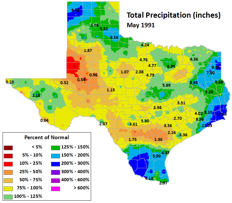 may 1991 average precipitation