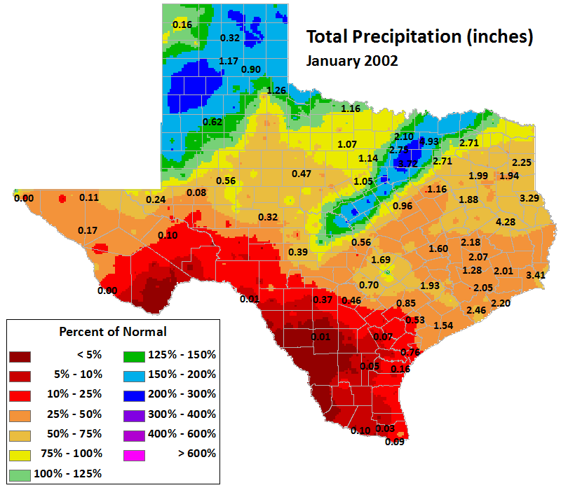 jan 2002 average precipitation