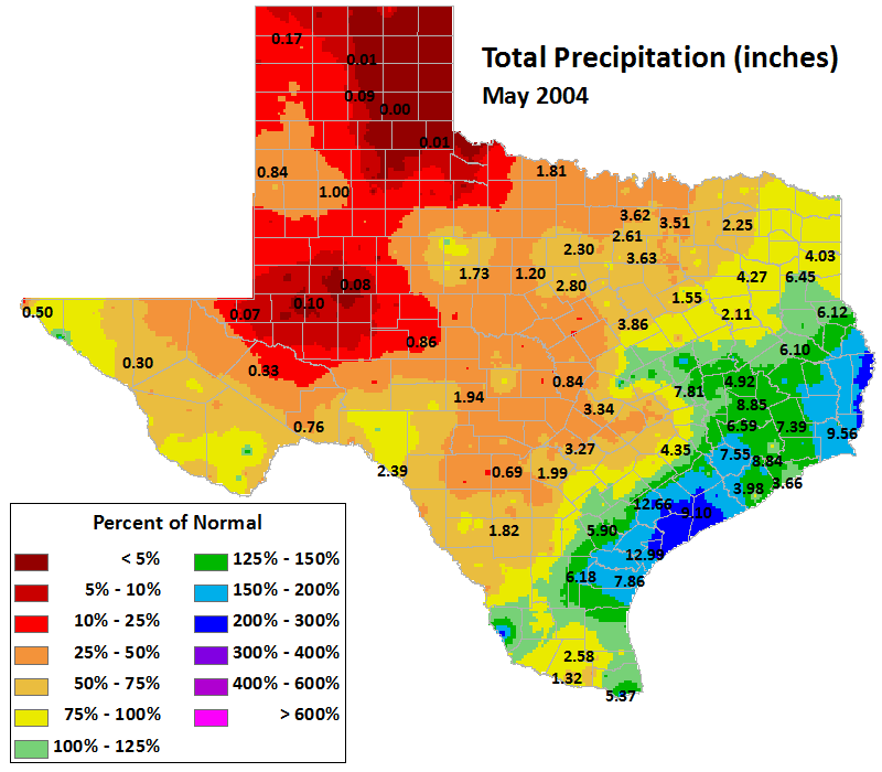 may 2004 average precipitation