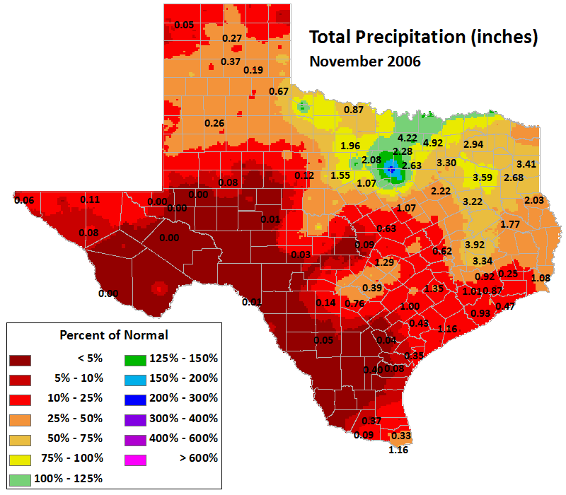 nov 2006 average precipitation