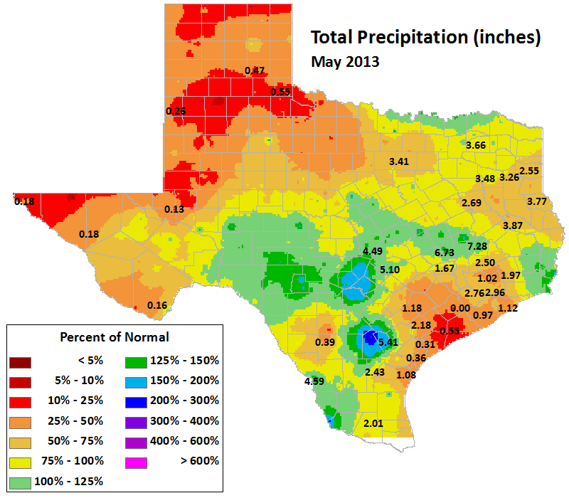 may 2013 average precipitation