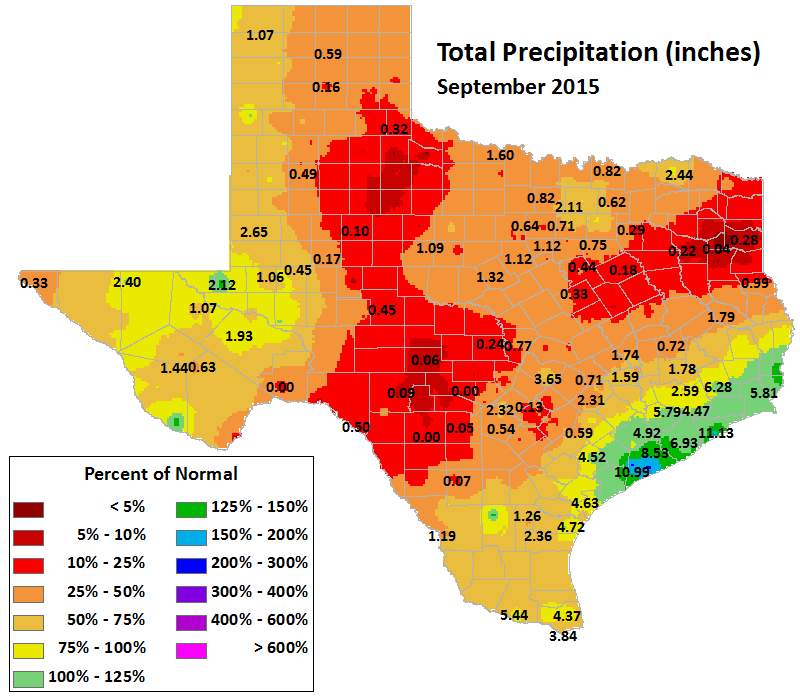 sep 2015 average precipitation