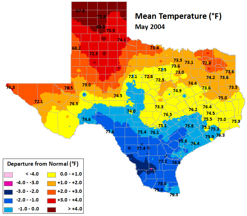 may 2004 average temperatures