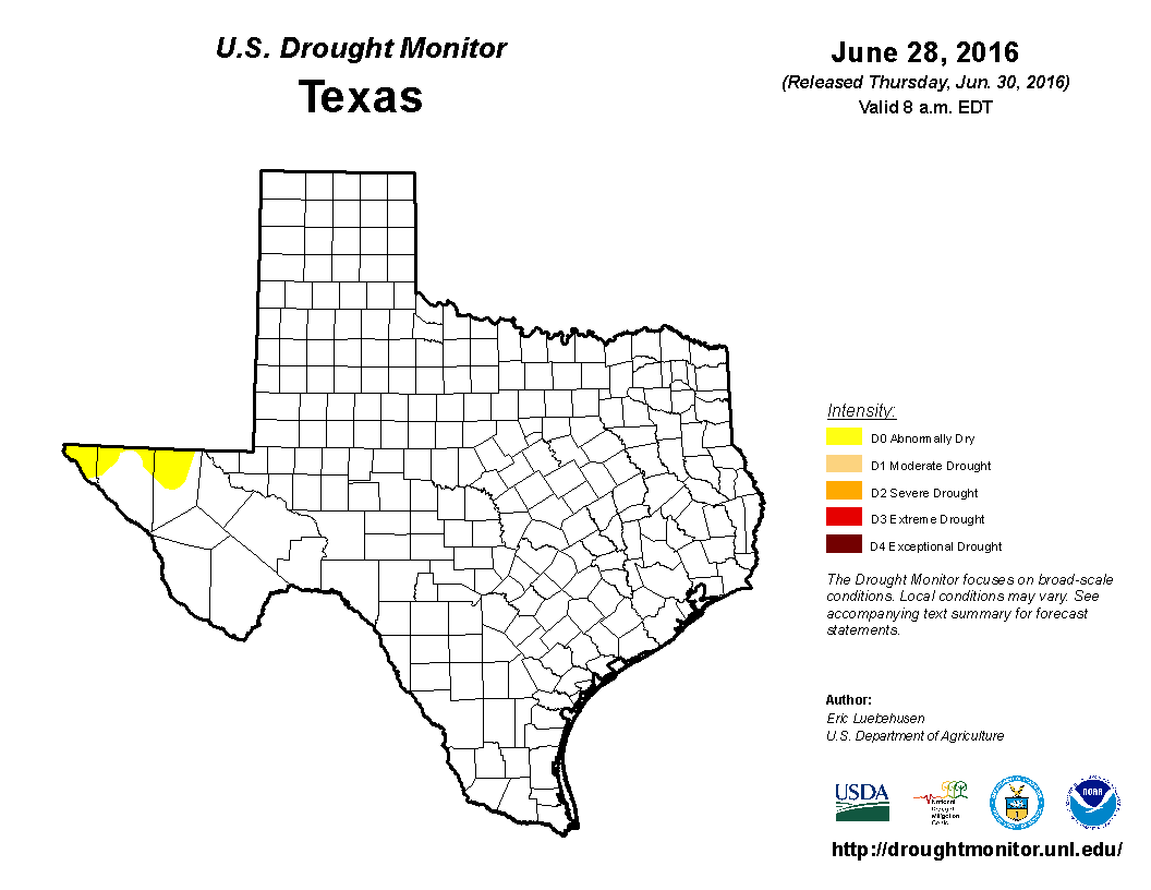 U.S. Drought Monitor, June 28, 2016