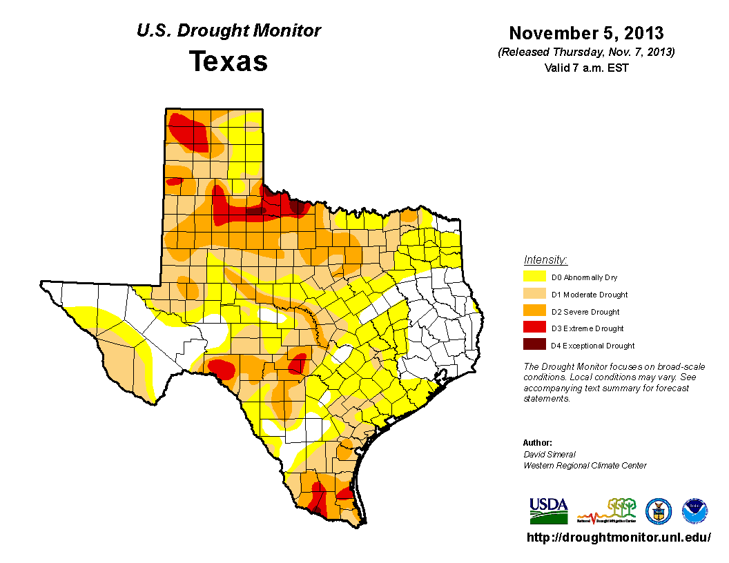 U.S. Drought Monitor, November 5, 2013