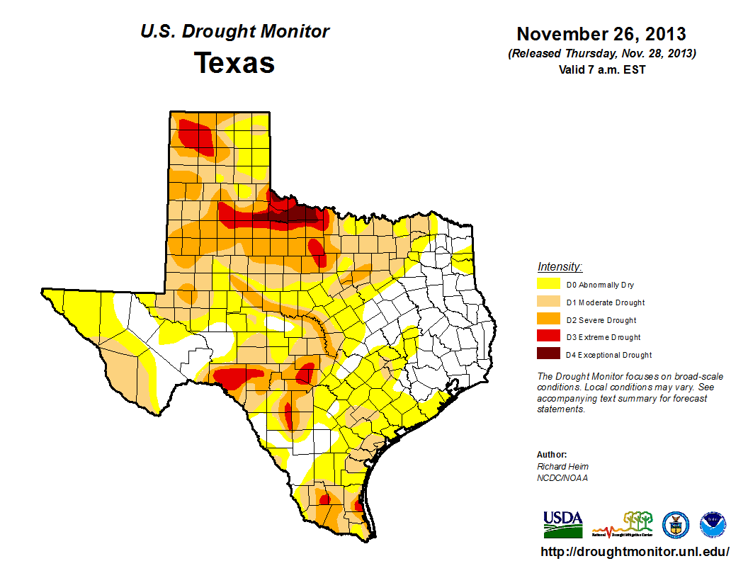 U.S. Drought Monitor, November 26, 2013