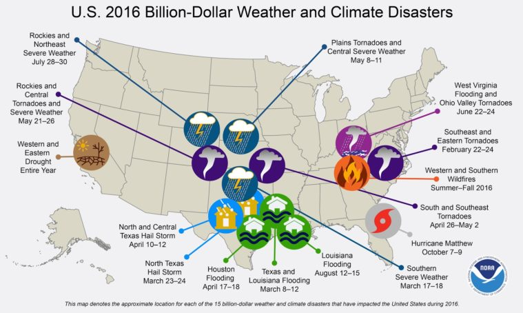 2016 Climate Recap: Record Temperatures, Warm Winters and Heavy Showers
